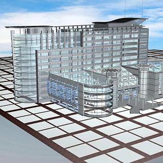 玻璃大楼3d模型