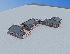彝族建筑模型3d模型