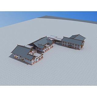 彝族建筑3d模型