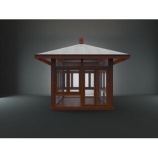 木亭子3d模型
