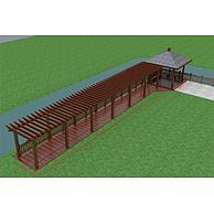 河边廊架亭子3D模型3d模型