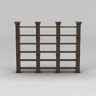 实木书架3d模型