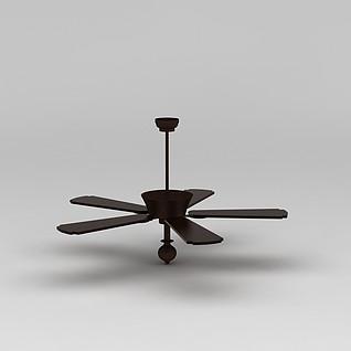 风扇吊灯3d模型