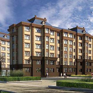精品住宅楼3d模型