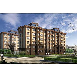 精品住宅楼3d模型3d模型