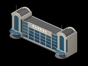 3d酒店<font class='myIsRed'>大楼</font>模型