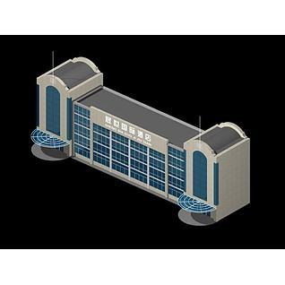 酒店大楼3d模型3d模型