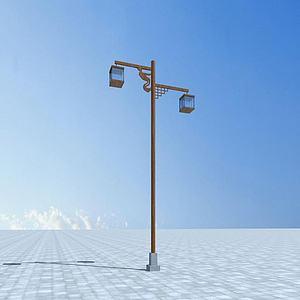 中式路灯模型3d模型