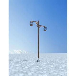 中式路灯3d模型