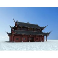 古代建筑3D模型3d模型