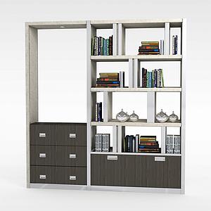 书房陈列架模型