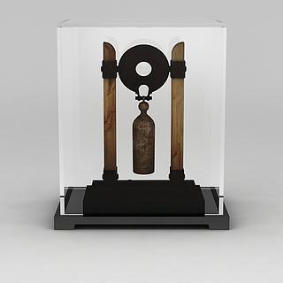 中式编钟摆件3d模型