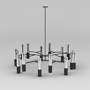 现代多头吊灯3d模型