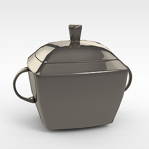 金屬儲物罐模型3d模型