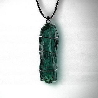男士水晶项链吊坠3d模型