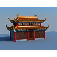 四角飞檐古建筑3D模型3d模型