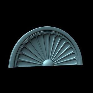 欧式拱形窗模型