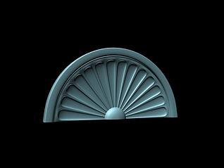 欧式拱形窗3d模型
