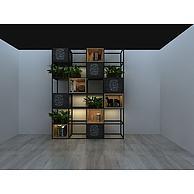 格子花架植物盆栽3D模型3d模型
