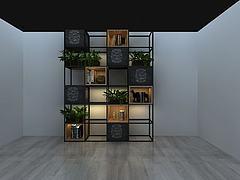 格子花架植物盆栽模型3d模型