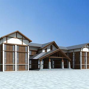游客中心模型3d模型