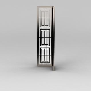 金属隔断3d模型
