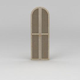 拱形衣柜门3d模型