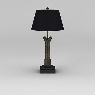 铁艺台灯3d模型