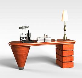 实木书桌3d模型