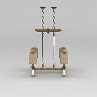 简约吊灯3d模型
