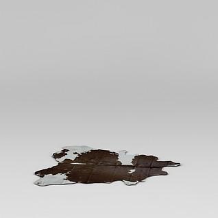 仿真动物皮地毯3d模型