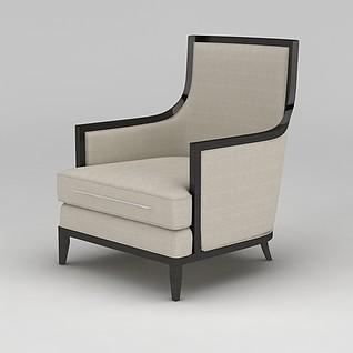 简约沙发椅3d模型3d模型