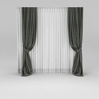 落地窗帘3d模型3d模型