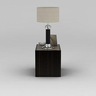 边柜台灯组合3d模型