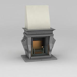 电壁炉3d模型