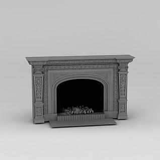 壁炉3d模型
