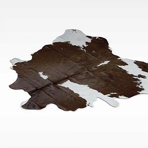 仿真动物皮地毯模型