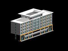 现代办公大楼模型3d模型