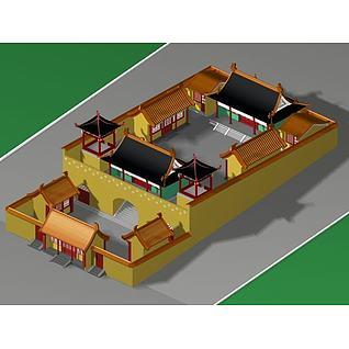 古庙建筑3d模型3d模型