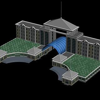 欧式豪华办公楼3d模型