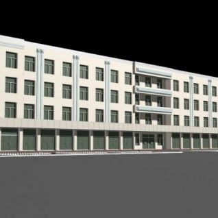 现代宿舍楼3d模型