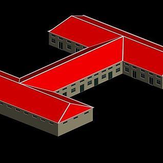 工地宿舍3d模型