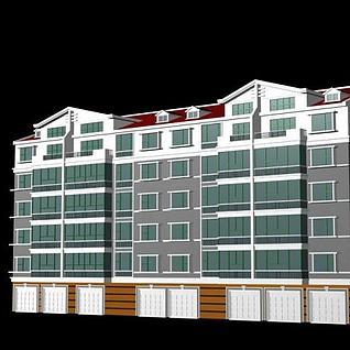 小区居民楼3d模型