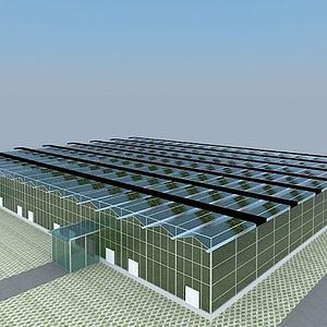 玻璃溫室3d模型