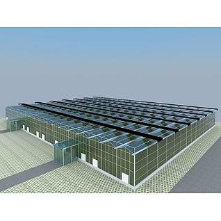 玻璃温室3d模型3d模型