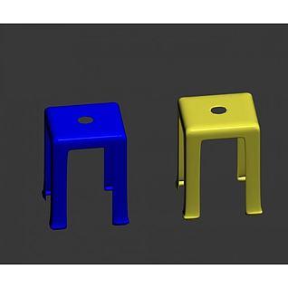 塑料凳3d模型