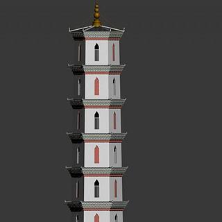 文峰塔3d模型
