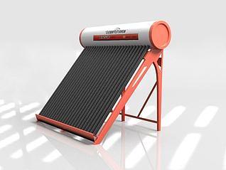 太阳能热水器3d模型
