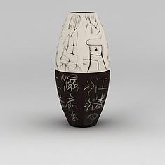古文字花瓶摆件3D模型3d模型