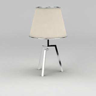 金属支架台灯3d模型3d模型